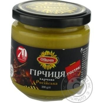 Горчица Олком Российская пищевая 200г