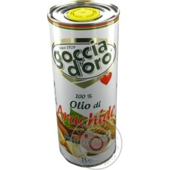 Олія арахісова рафінована дезодорована Goccia D'oro 1л