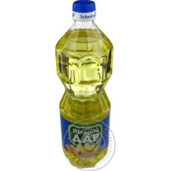 Масло подсолнечное Щедрый Дар рафинированное 870мл