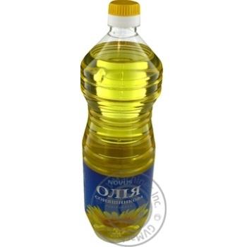 Oil Novus sunflower refined 1000ml plastic bottle