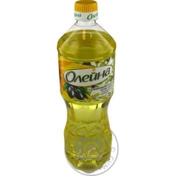 Масло Олейна купажированное подсолнечное с оливковым маслом Extra Virgin 870мл