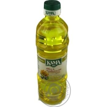 Масло Кaмa подсолнечно-оливковое купажированное рафинированное 455г