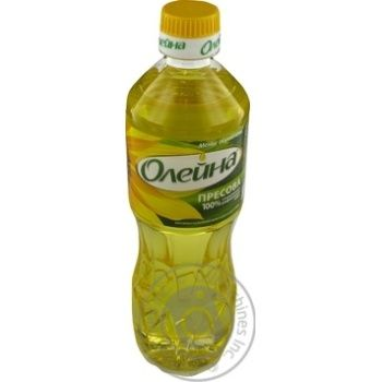 Масло подсолнечное Олейна Пресова рафинированное 500мл