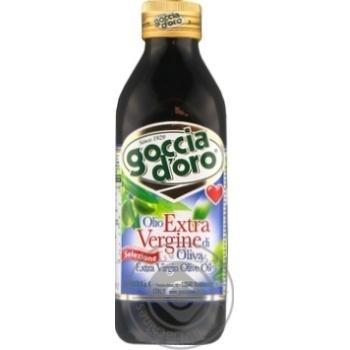 Oil Goccia d'oro Private import olive unrefined 500ml glass bottle - buy, prices for Novus - image 1