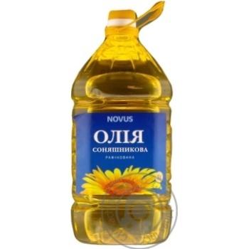 Олія соняшникова Novus рафінована дезодорована виморожена марки П 3л - купити, ціни на Novus - фото 2