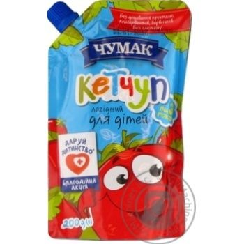 Кетчуп Чумак Нежный для детей 200г - купить, цены на Novus - фото 1
