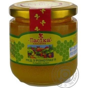 Honey Pasika polyfleur 270g glass jar