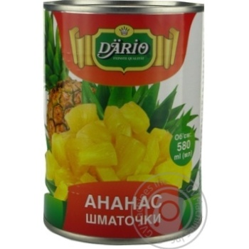 Dario In Syrop Pineapple Pieces 580ml - buy, prices for Novus - image 2