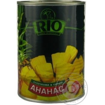 Pineapple chunks Rio in syrup 580g Thailand