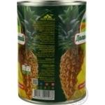 Ананас Долина Желаний кусочками в сиропе 580мл - купить, цены на Novus - фото 3