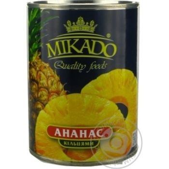 Pineapple slices Mikado in syrup 565g Thailand