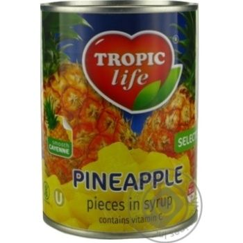 Tropic Life Pineapple Сhops In Syrup - buy, prices for Novus - image 1