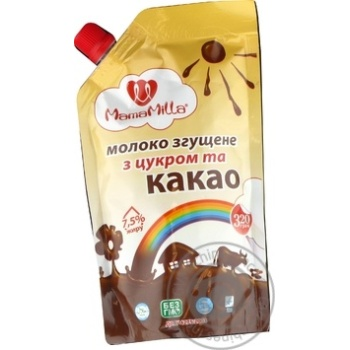 Mama Milla with cocoa and sugar сondensed milk 7.5% 320g