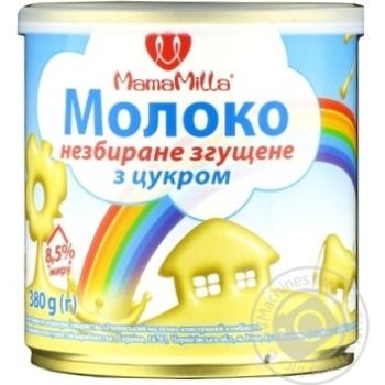 Whole condensed milk Mama Milla with sugar 8.5% 380g