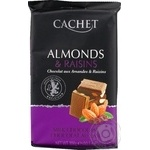 Cachet with almonds and raisins milk chocolate 300g