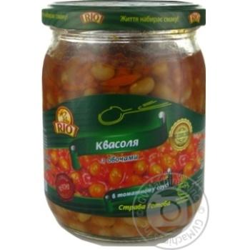Квасоля з овочами в томатному соусі Pio 480мл