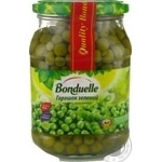 Vegetables pea Bonduelle green canned 530g glass jar