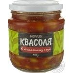 Vegetables kidney bean Novus Private import in tomato sauce 460g glass jar