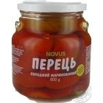 Vegetables pepper Novus Private import pickled 600g glass jar
