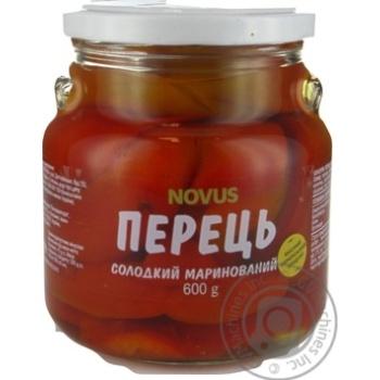 Перець солодкий маринований пастеризований Novus 480г