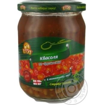 Vegetables kidney bean Rio in tomato sauce 480g glass jar
