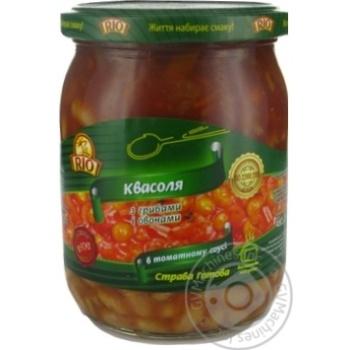 Квасоля з грибами в томатному соусі Pio 480мл