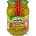 Vegetables corn Bonduelle canned 870g glass jar