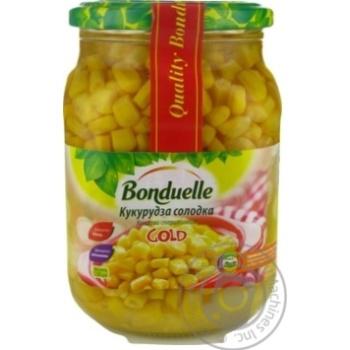 Vegetables corn Bonduelle canned 870g glass jar