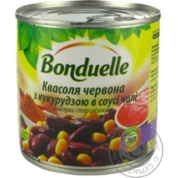 Фасоль Bonduelle красная с кукурузой в соусе чили 425мл - купить, цены на МегаМаркет - фото 2