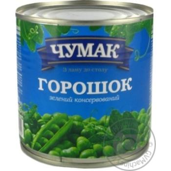 Горошек Чумак зеленый 410г
