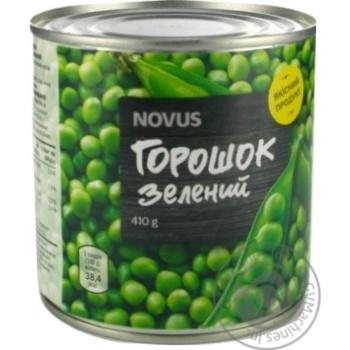 Горошок зелений Novus консервований з/б 410г - купити, ціни на Novus - фото 4