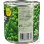 Горошок зелений Novus консервований з/б 410г - купити, ціни на Novus - фото 3