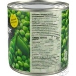 Novus Canned Green Pea Can 410g - buy, prices for Novus - image 2