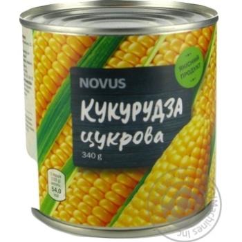 Кукурудза цукрова консервована з цілих зерен стерилізована вакуумована Novus з/б 340г - купити, ціни на Novus - фото 2