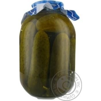 Огурцы  консервированные Дари ланів 3кг - купить, цены на Novus - фото 3