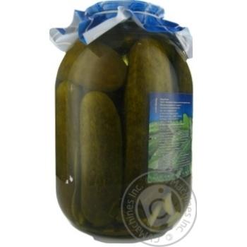 Огурцы  консервированные Дари ланів 3кг - купить, цены на Novus - фото 4