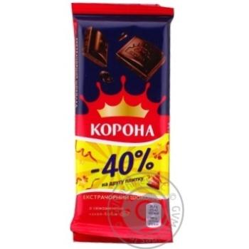 Шоколад Корона экстрачерный 1+1 170г - купить, цены на Novus - фото 7