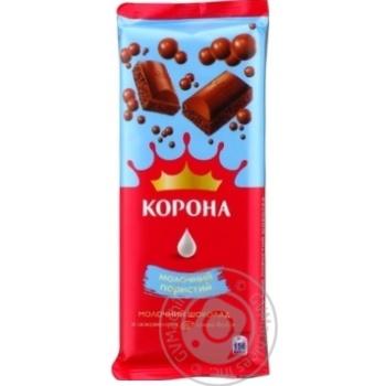Шоколад Корона молочный пористый 90г