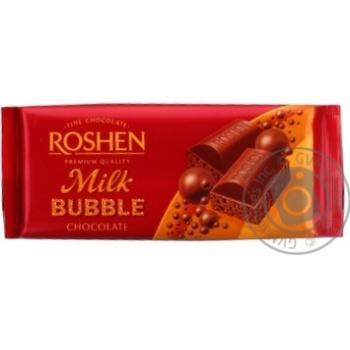 Шоколад Roshen молочний пористий 85г