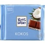 Ritter sport coconut-cream milk chocolate 100g