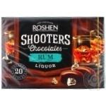 Цукерки шоколадні Roshen Shooters з ромовим лікером 150г