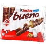 Kinder Bueno chocolate bars 3pcs 129g