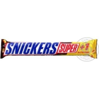 Батончик Snickers Super+1 шоколадный 112,5г