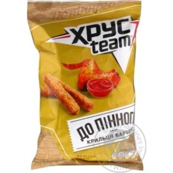 HrusTeam Crispy crackers with chicken BBQ taste 70g