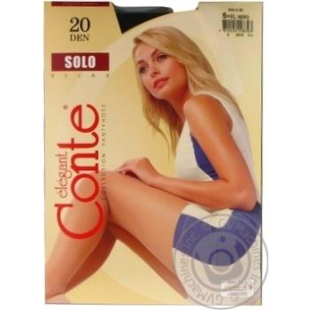 Колготы Conte Solo Nero черные 20 ден размер 5 - купить, цены на МегаМаркет - фото 1