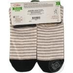 Шкарпетки жіночі бавовняні Conte happy 17С-21СП, розмір 23, 125 бежевий