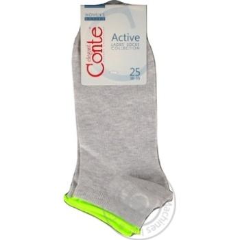 Шкарпетки жін.Conte Elegant Active 035 св.сірий р25 шт - купити, ціни на Novus - фото 5