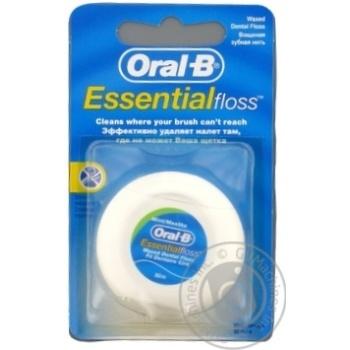 Зубная нить Oral-B Essential floss Waxed мятная 50м - купить, цены на Ашан - фото 4