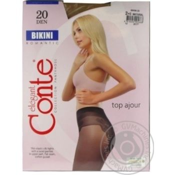 Tights Conte natural polyamide for women 20den 2size