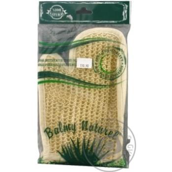 Мочалка-рукавичка махрова з пальцем Balmy Naturel - купить, цены на Novus - фото 1